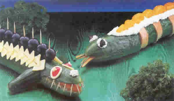 Bild eines Gurkenkrokodils, einer Gurkenschlange